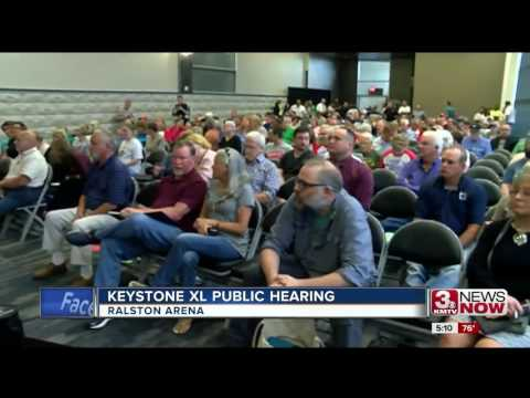 Keystone XL hearing at Ralston Arena