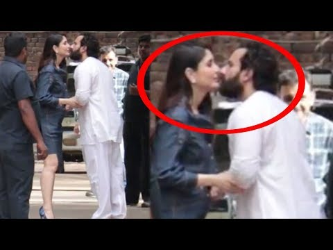 Saif Ali Khan KISSES Kareena Kapoor In FRONT Of Media & PUBLIC