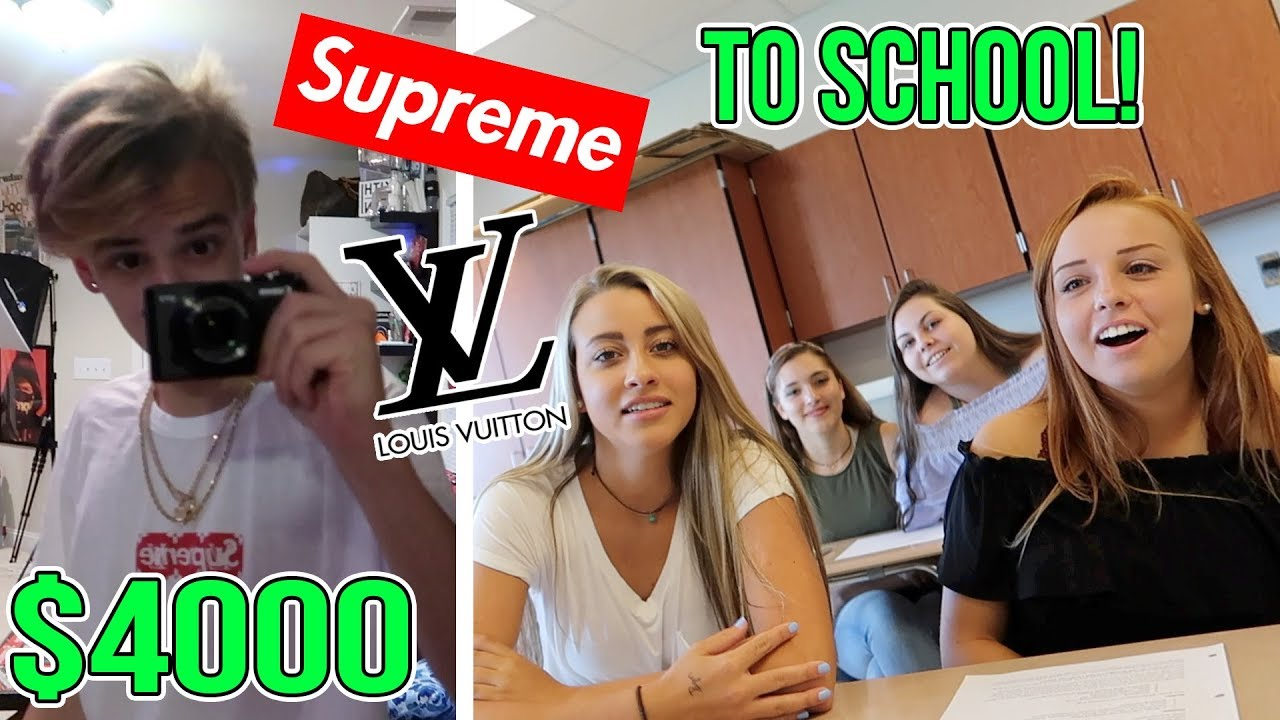 Wearing A Crazy Outfit On My First Day Of School Supreme Louis Vuitton Gucci