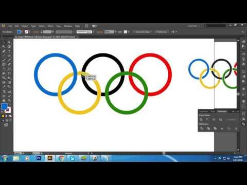 How to make Olympic rings logo in illustrator