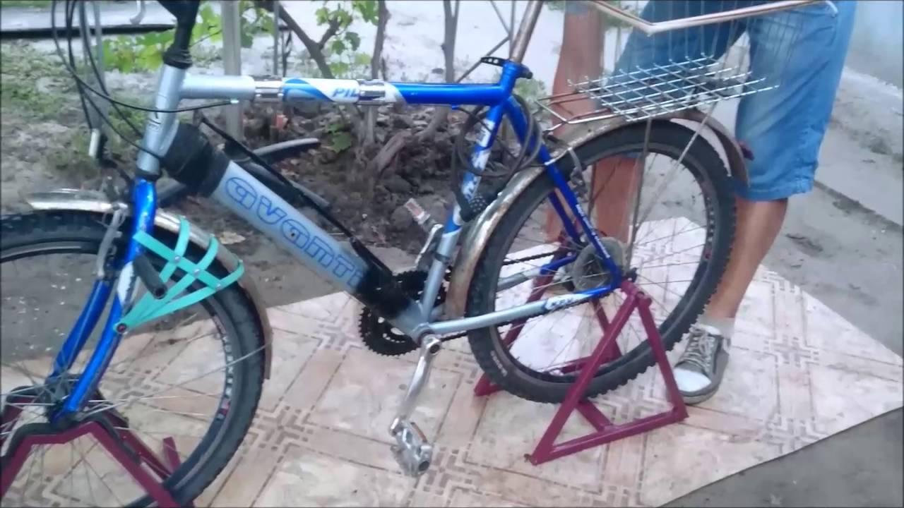 Как сделать подставку для велосипедов 97