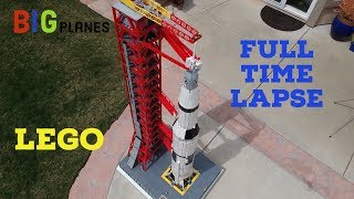 Building a custom LEGO Saturn V from start to finish - FULL TIME LAPSE