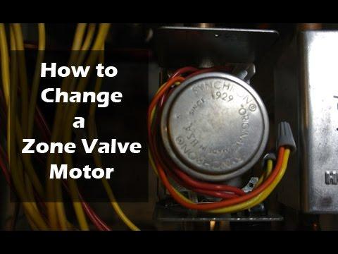 How to Change a Zone Valve Motor  Honeywell  YouTube
