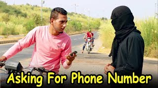 Asking For Girl's Phone Number in Public Funny Video - Faraz Fictions