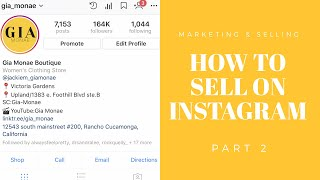 How to grow your Instagram Boutique