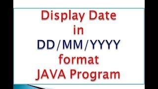 Java GG/AA/YYYY Biçiminde görüntüler Tarih