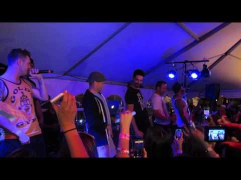EPIC!!!!! Guys perform Get Down BSB Jones Beach After Party 62214