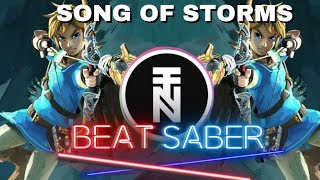 [beat saber] The Legend Of Zelda - Song Of Storms (Deon Custom Remix) (ExpertPlus) Selfmapped