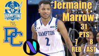 Jermaine Marrow Hampton Pirates 31 PTS 7 REBS 8 AST vs Presbyterian College | Next Ones