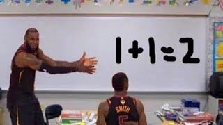 LeBron James Teaches JR Smith Basketball