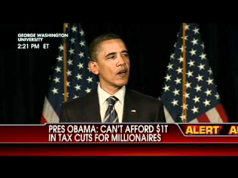 Obama Says He Refuses to Extend Bush Tax Cuts for Wealthy Families Again