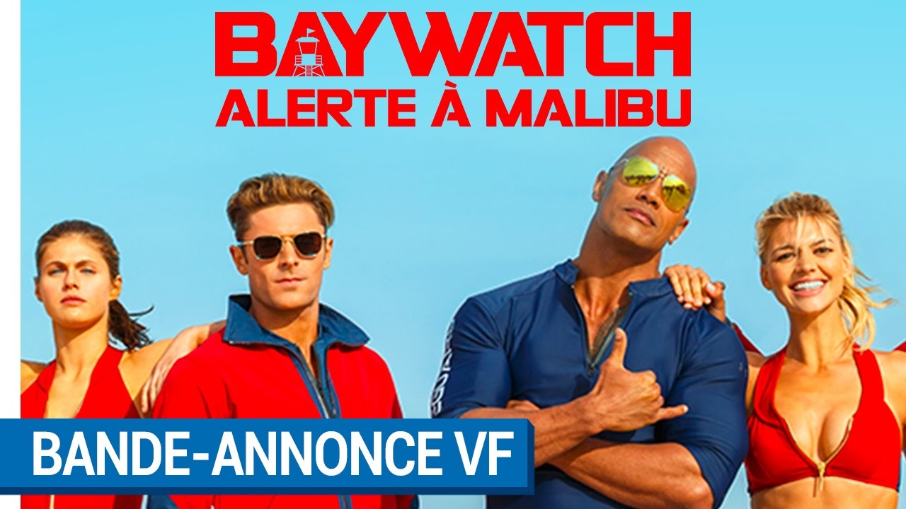 baywatch alerte malibu bande annonce vf actuellement au cin ma youtube. Black Bedroom Furniture Sets. Home Design Ideas