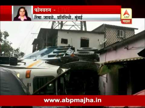 Mumbai : Tanker accident near Mankhurd, 5 Injured : Traffic Jam on Sion  Panvel Highway
