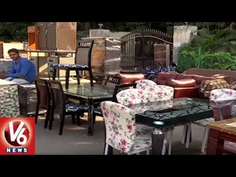 Second Hand Furniture Business Raised In Hyderabad City | V6 News