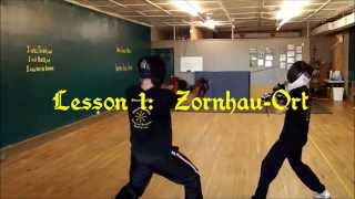 Longsword Techniques, Lesson1: Zornhau-Ort
