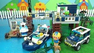 레고 시티 늪지 경찰 본부에서 탈출한 도둑을 잡아라 ❤ 뽀로로 장난감 애니 ❤ Pororo Toy Video