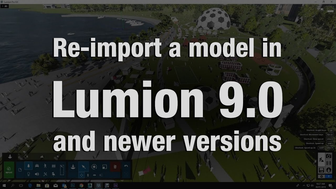 RE - IMPORT A MODEL IN LUMION 9
