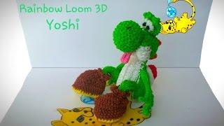 Rainbow Loom 3D Yoshi (Part 14/15)