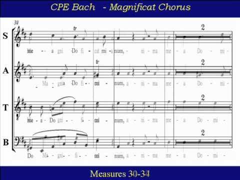 CPE Bach Magnificat  1 - Choir