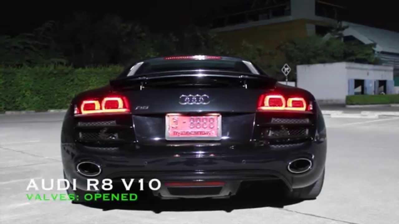 Audi R8 V10 Thunder Madly With Armytrix Titanium Valvetronic Exhaust