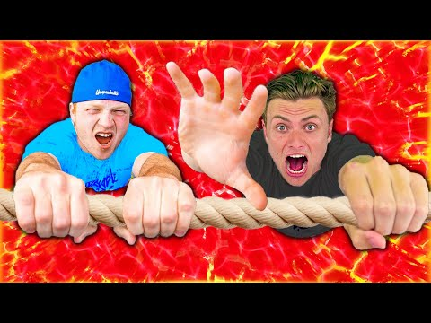 Last To Fall In LAVA POOL Wins $10,000 (ft Unspeakable)