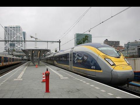 Eurostar E320 (Siemens Velaro) 4013/4014 bij vertrek vanaf Utrecht Centraal