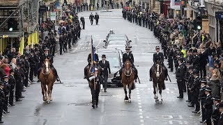 Police and mourners line streets of Oxford in honour of fallen PC Andrew Harper