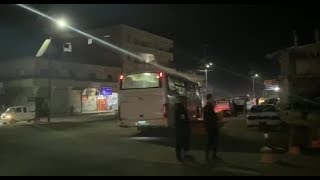 Night streets of the city of Raqqa | Late November of 2019 | Syria