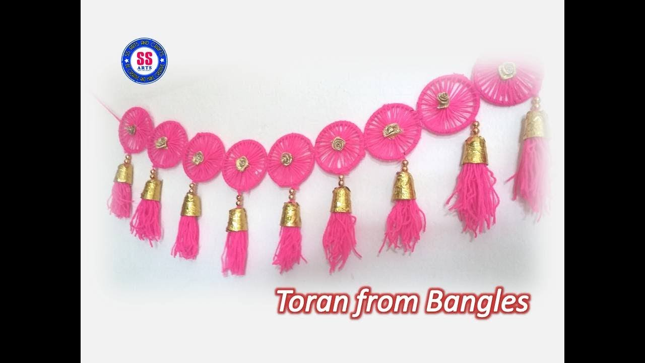 Diy Toran From Old Waste Bangles Plastic Spoons