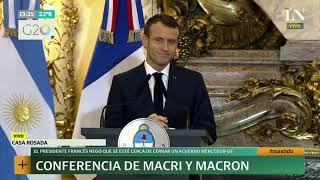 Conferencia de prensa de Macri y Macron