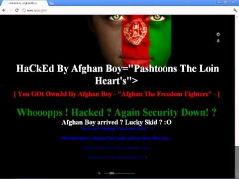 American Website Hacked By Afghan Cyber Army