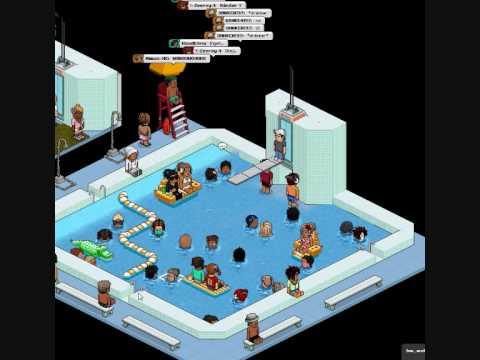 Habbo bathroom swim in a pool youtube - Hotels in bath with swimming pool ...