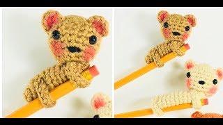Accesorios a crochet para lápices/kawaii amigurumi pencil topper/back to school pencil accessories.