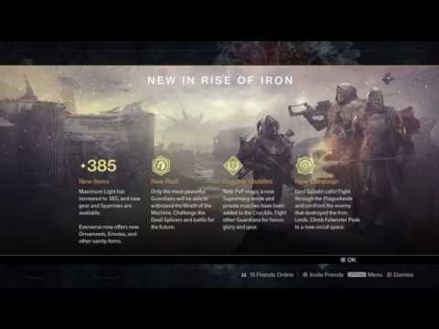Destiny: Rise Of Iron Live  duction Screen Director P