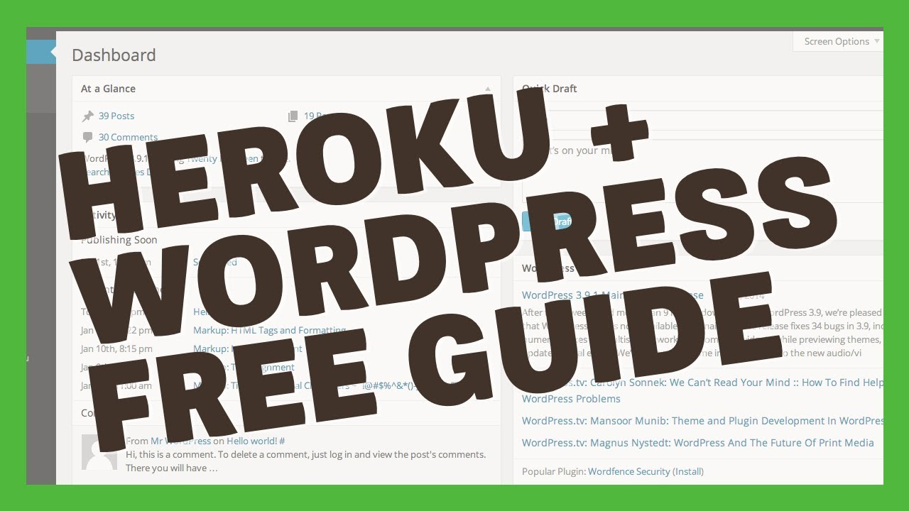 [TUT] Hướng Dẫn Cài Đặt Wordpress Trên Heroku