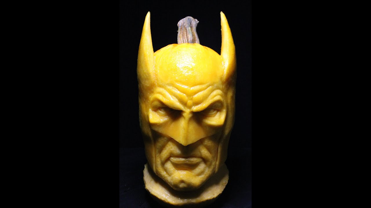 Batman 3D Pumpkin Carving Time Lapse YouTube