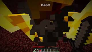 Minecraft Any% Set Seed Glitched TAS (1:35.33)