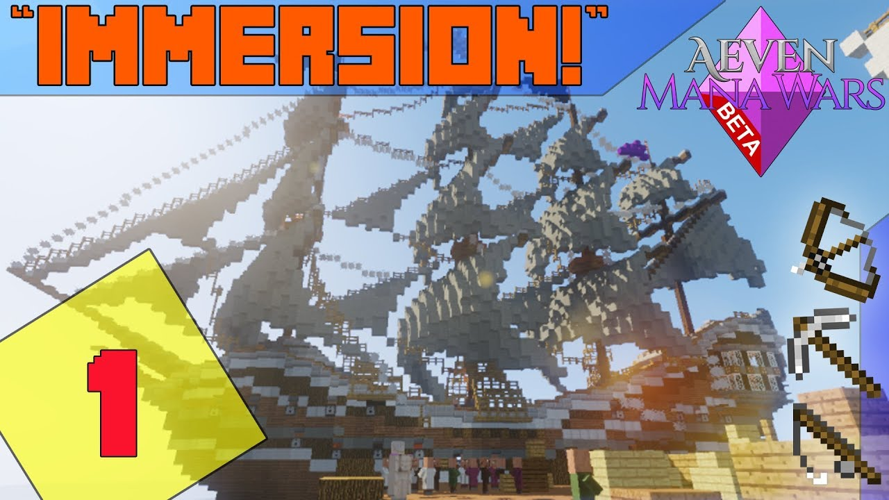 minecraft mmorpg server aeven mana wars immersion ep 1