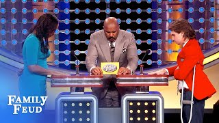 """This answer makes Steve Harvey say... """"What just happened???""""   Family Feud"""