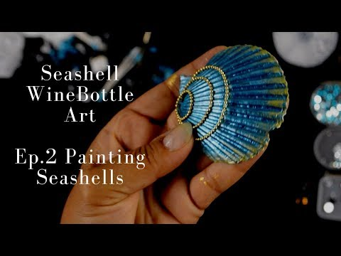 Seashell Wine Bottle Art DIY | Ep.2 Decorating Seashells