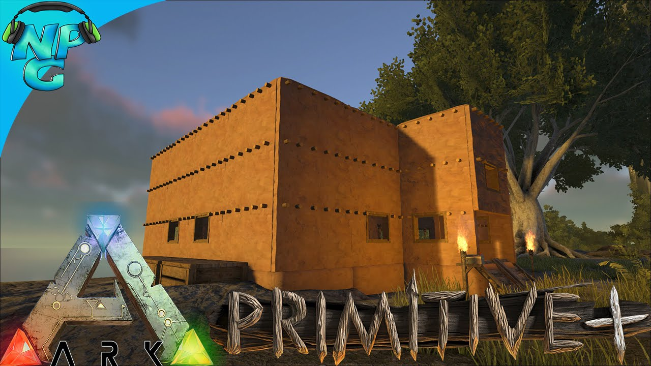 Adobe building primitive ark survival evolved gameplay for Building an adobe house
