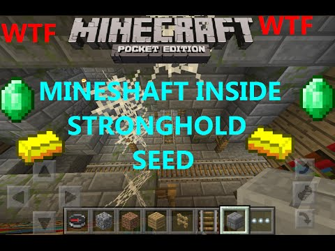 [MCPE 0.12.1] MINESHAFT INSIDE A STRONGHOLD SEED WTF ! 6 BLACKSMITHS, 7 VILLAGES | MINECRAFT PE
