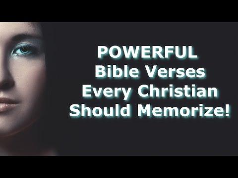 60 POWERFUL Bible Verses Every Christian Should Memorize!