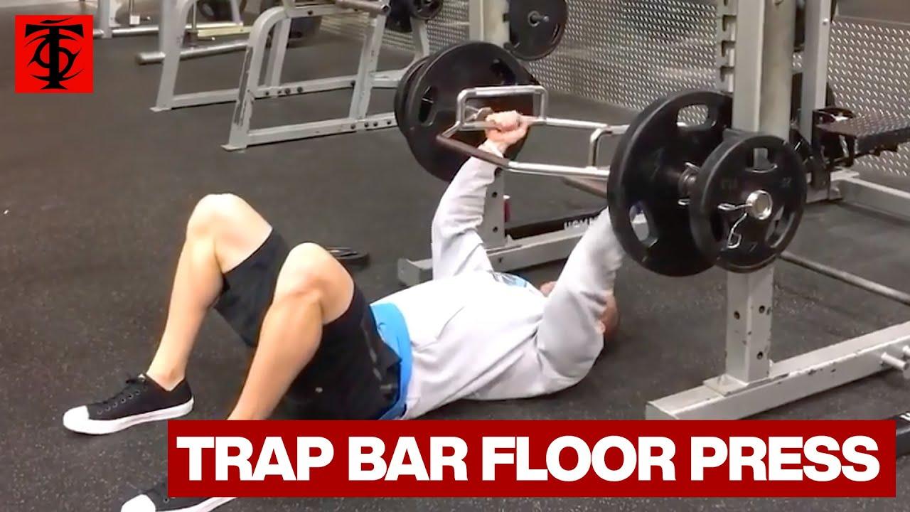 Trap Bar Floor Press - YouTube