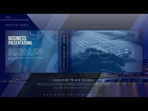 How To Design Beautiful Animated Business Portfolio Video Slide in Microsoft Office PowerPoint PPT
