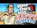 AMAZING GTA 5 LEVELS IN HAPPY WHEELS (Happy Wheels Funny Moments)