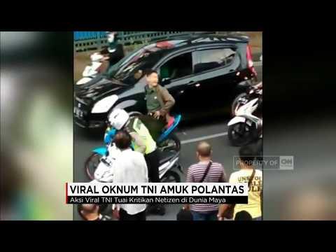 Viral! Oknum TNI Amuk Polantas