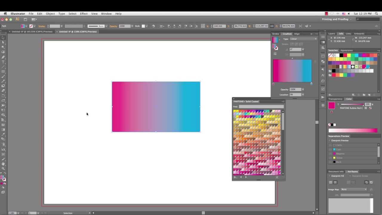 How To Make Pantone Gra Nt In Adobe Illustrator