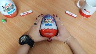 חדש !!! ביצת הפתעה ענקית של קינדר במיוחד לחנוכה + אוסף קינדר שלי - kinder MAXI egg