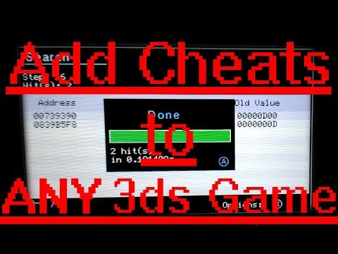 How to Add/Make Cheats for ANY 3ds Game